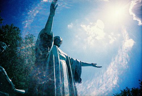 University of Illinois statue- Alma Mater