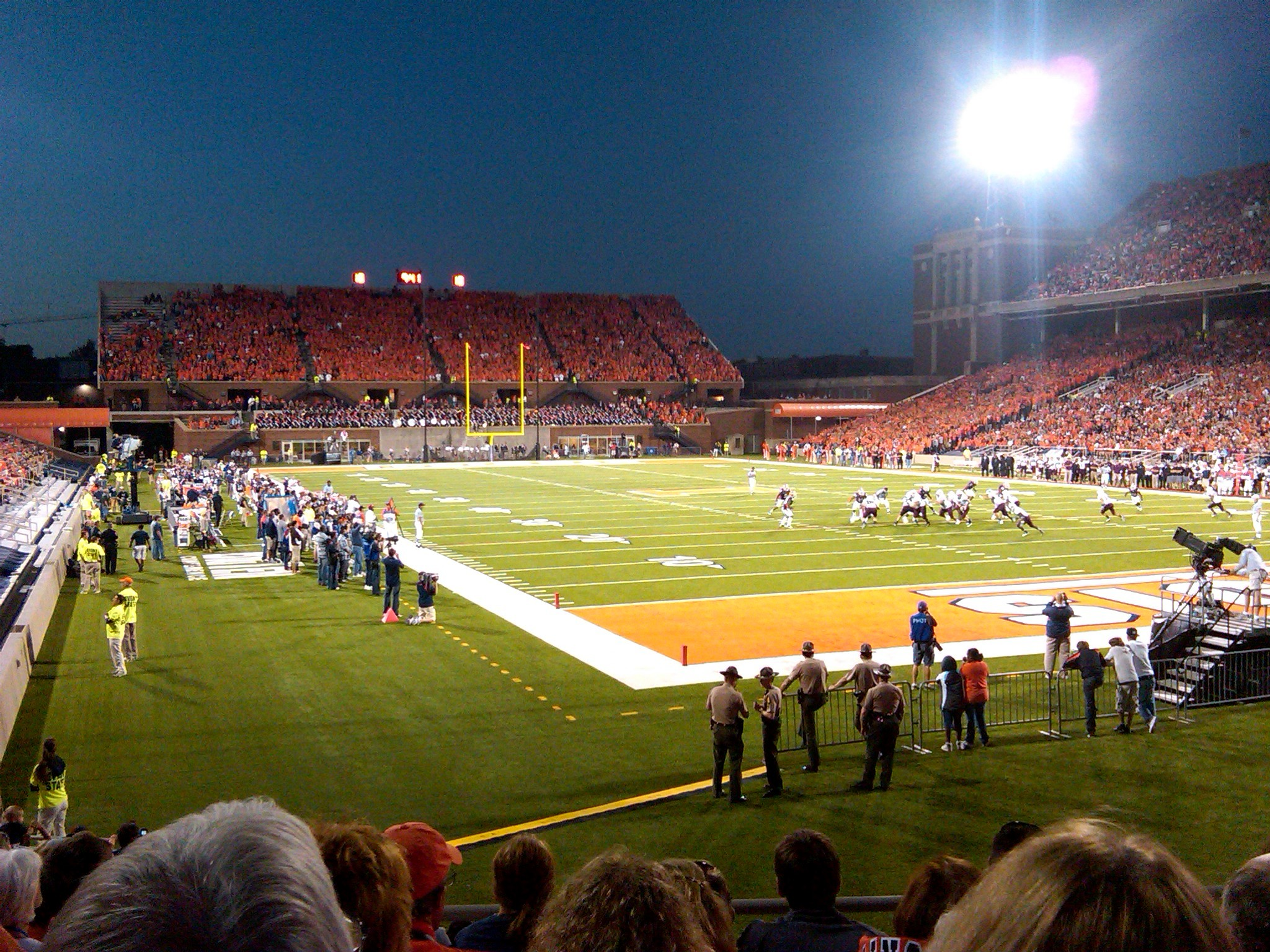 2010 game at Memorial Stadium in Champaign