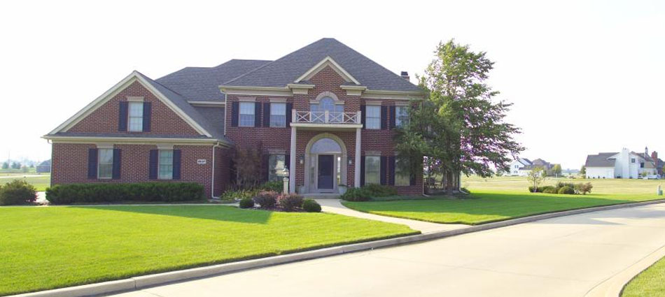 Homes like this in Stone Creek subdivision in Urbana give you fine living near near on of CU's best golf courses.